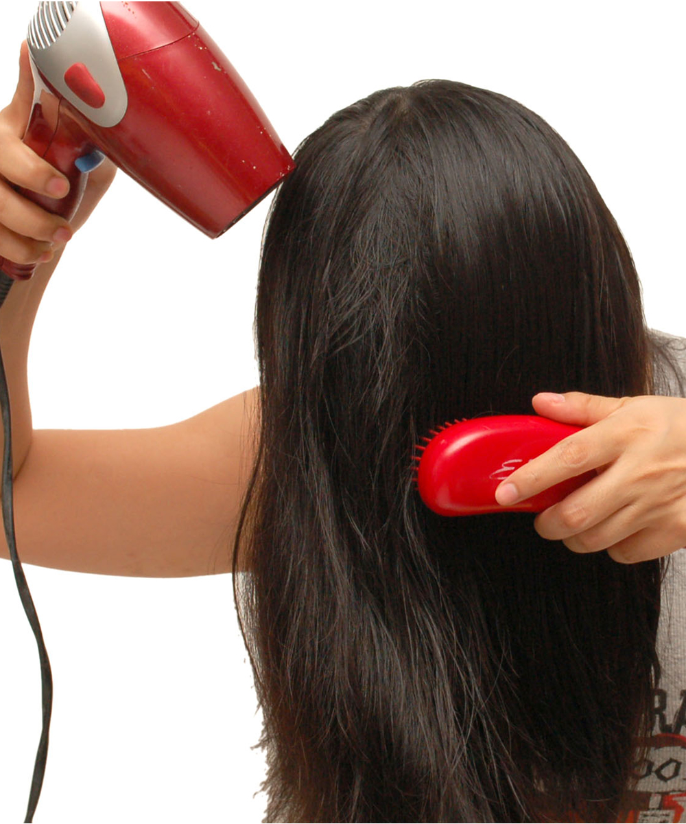 Finish Blow Drying with Cold Shot