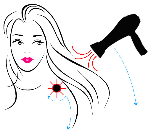 Blow Drying Hair Using a Round Brush