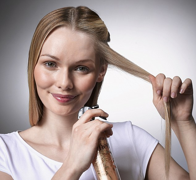 Curling Hair With A Flat Iron Step 1