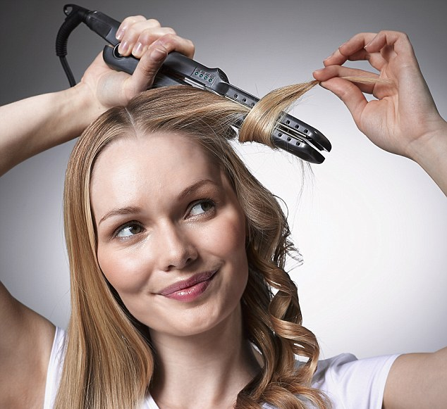 Curling Hair With A Flat Iron Step 3