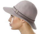 BCBGeneration Women's Pinked Edge Floppy Hat