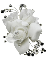 Melissa Kay Collection Rhinestone & Crystal Bead Flower Bridal Hair Clip