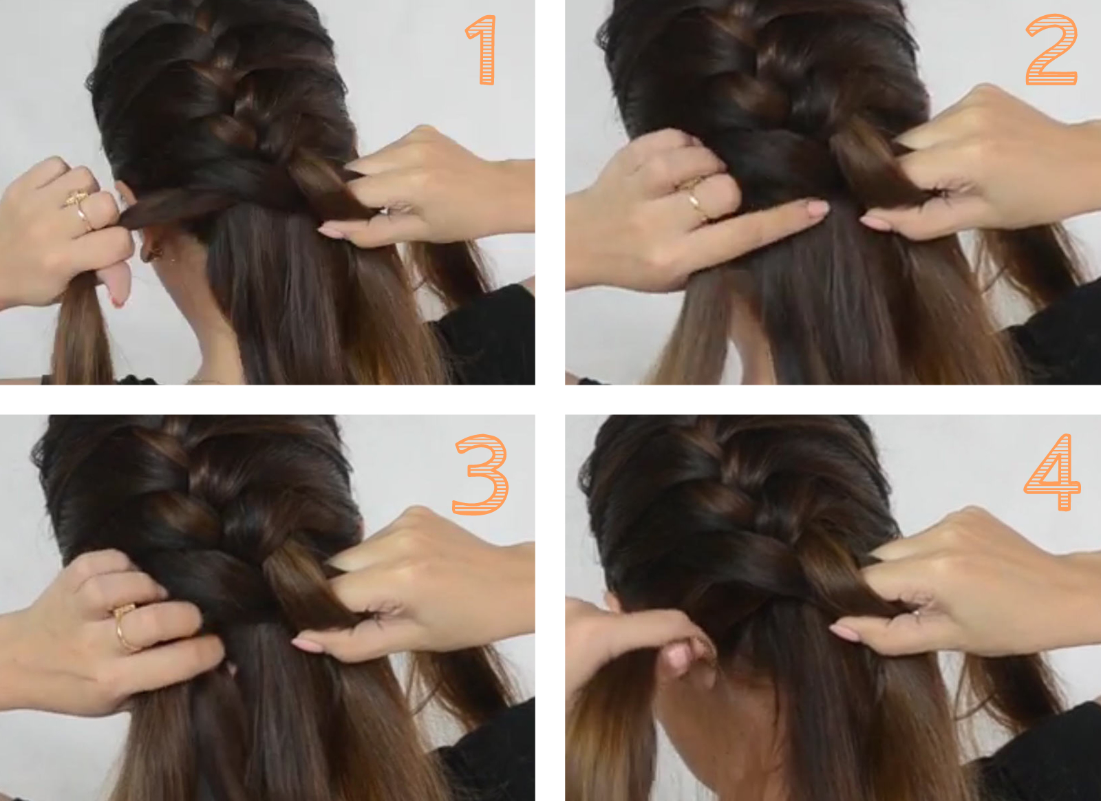 French Braid Step 5