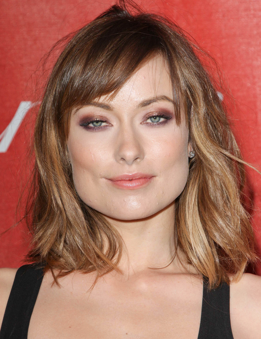 Olivia Wilde With Side Swept Bangs