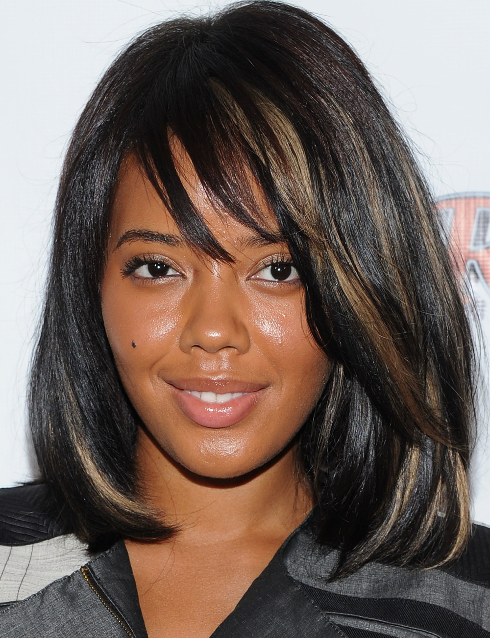 Angela Simmons With Side Swept Bangs