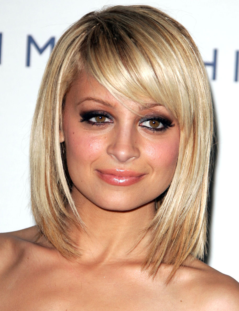 Nicole Richie With Side Swept Bangs
