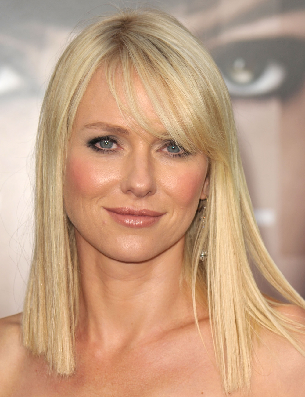 Naomi Watts With Side Swept Bangs