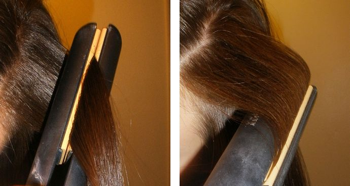 Crimping Hair with a Flat Iron
