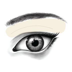 Applying Eyeshadow Step 1