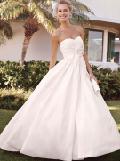 David's Bridal Strapless Shantung Taffeta Sweetheart Ball Gown Style 9T3039