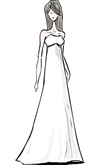 Empire Waist Gown Silhouette
