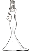 Mermaid/Trumpet Gown Silhouette