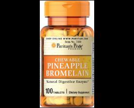 Puritan's Pride Chewable Pineapple Bromelain