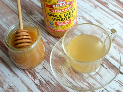 Apple Cidar Vinegar & Honey Tea for Upset Stomach