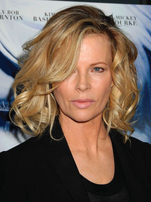 Kim Basinger with a Deep Side Part
