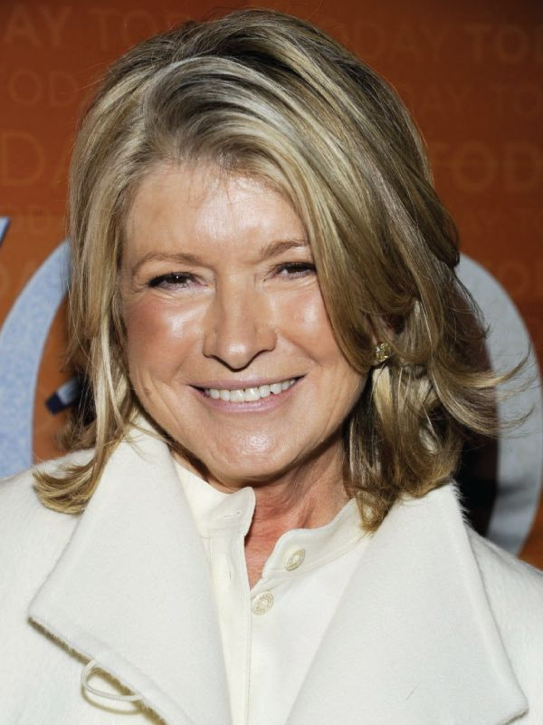 Martha Stewart with a Deep Side Part