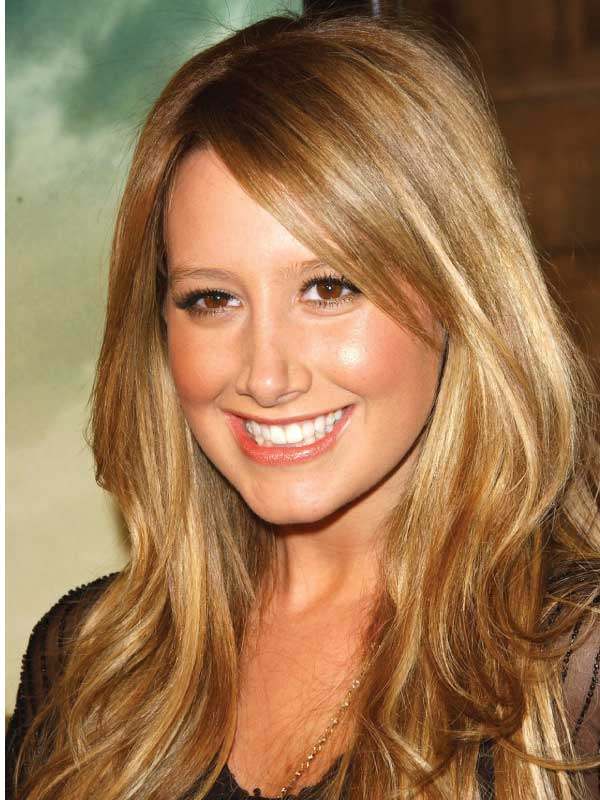 Ashley Tisdale with a Classic Side Part Hairstyle