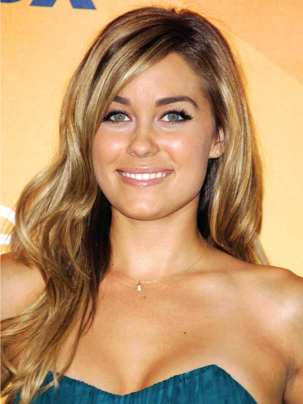 Lauren Conrad with a Classic Side Part Hairstyle