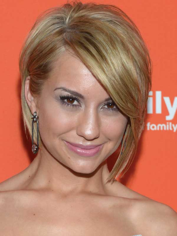 Chelsea Kane with a Short Side Part Hairstyle