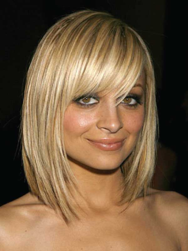 Nicole Richie with a Short Side Part Hairstyle