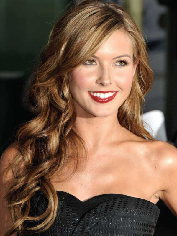 Audrina Patridge with a Glamorous Side Part Hairstyle
