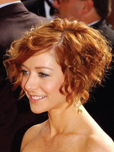 Alyson Hannigan with a Short Bob