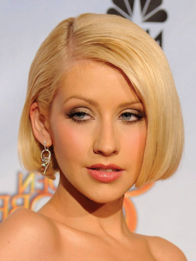 Christina Aguilera with a Short Bob