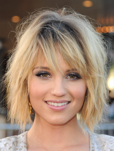 Dianna Agron with a Short Bob