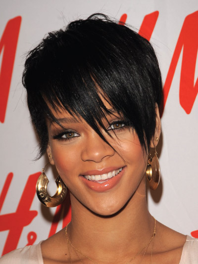 Rihanna with a Short Bob