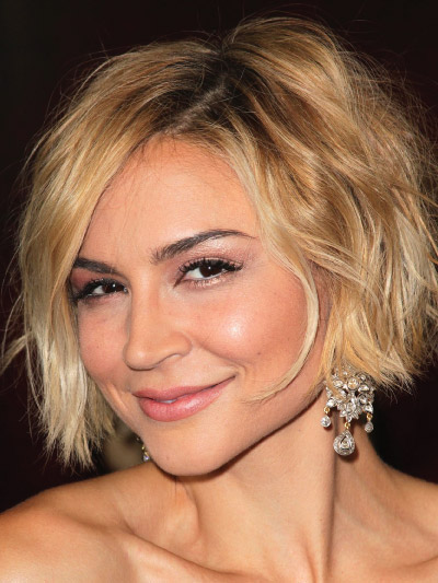 Samaire Armstrong with a Short Bob