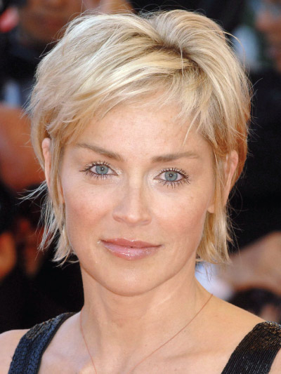 Sharon Stone with a Short Bob