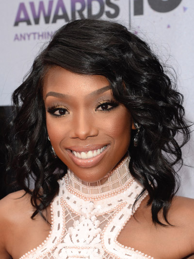 Brandy Norwood with a Long Bob
