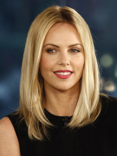 Charlize Theron with a Long Bob