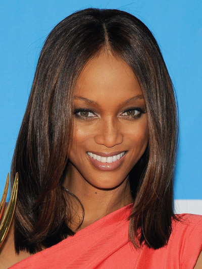 Tyra Banks with a Long Bob