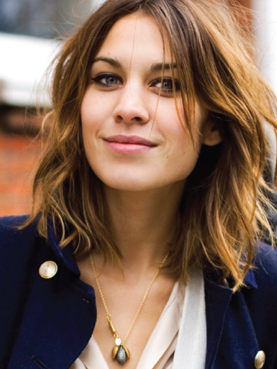 Alexa Chung with a Long Bob