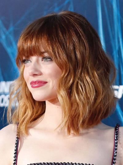 Emma Stone with a Long Bob