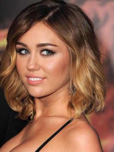 Miley Cyrus with a Medium bob