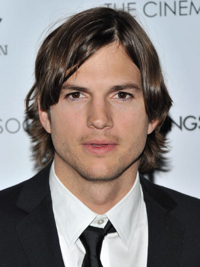 Ashton Kutcher with Long Hair