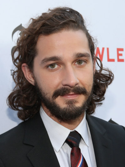 Shia LaBeouf with Long Hair