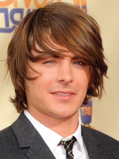 Zac Efron with Long Hair