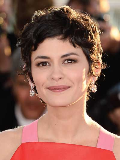 Audrey Tautou with a Choppy Pixie