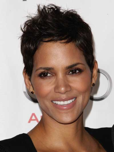 Halle Berry with a Choppy Pixie