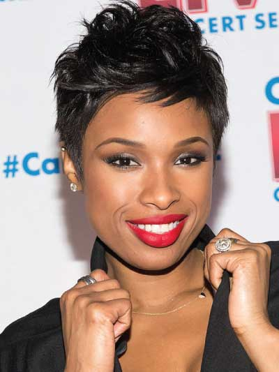 Jennifer Hudson with a Choppy Pixie