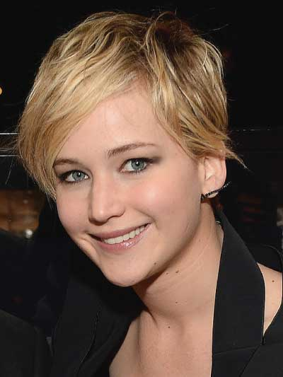 Jennifer Lawrence with a Choppy Pixie