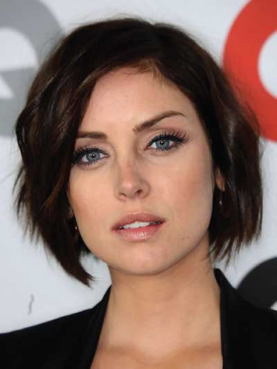 Jessica Stroup with a Short Textured Bob