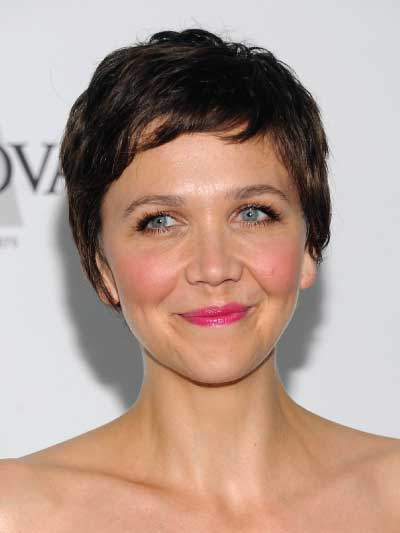 Maggie Gyllenhaal with a Short Crop