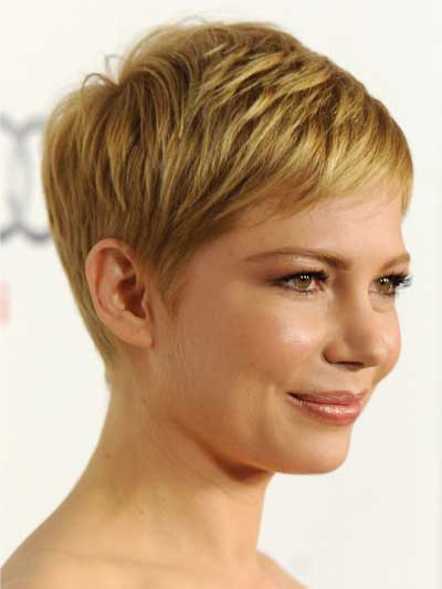 Michelle Williams with a Short Crop