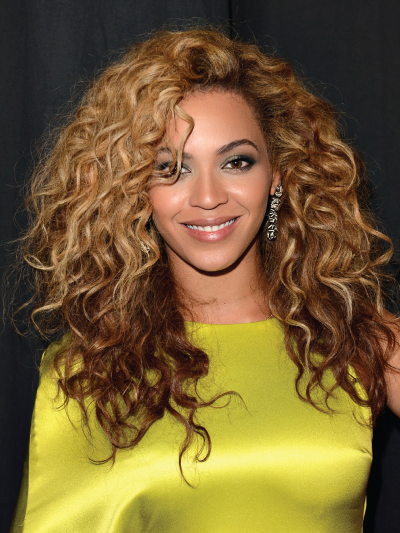 Beyonce with Big Voluminous Curls