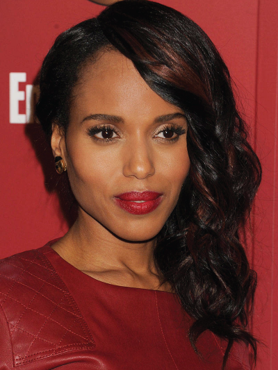 Kerry Washington with a Side Cascade of Curls