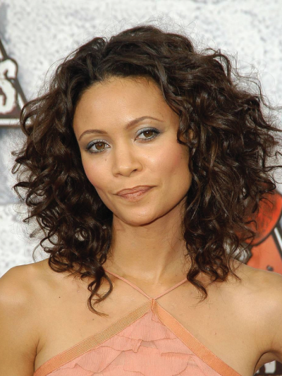 Thandi Newton with Natural Curly Hair